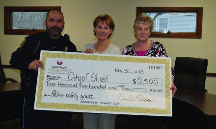 CRCF grant helps equip Olivet Police with bulletproof vests