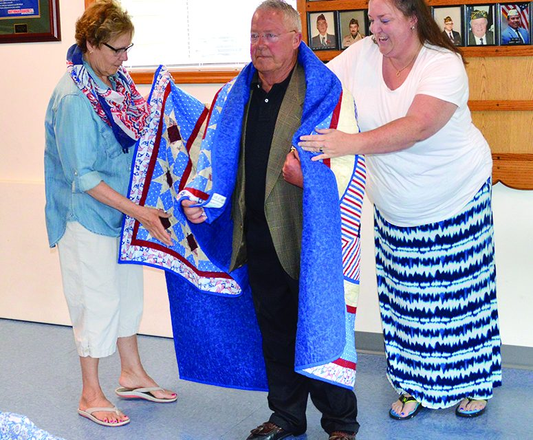 Charlotte's Burt recognized  for service with Quilt of Valor