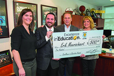 Eaton RESA teacher wins $1,000 award for 'Excellence in Education'