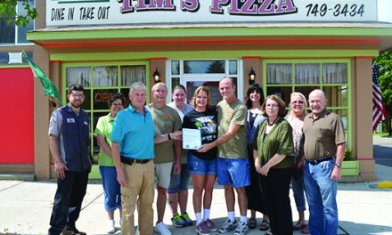 Olivet Chamber takes notice  of Tim's Pizza's new look