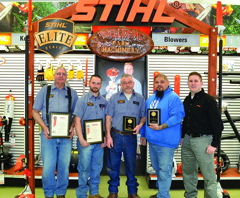 Technicians at Williams Farm Machinery  attain stringent Gold Level certification