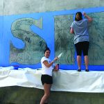 Maple Valley High School students paint Nashville Pride mural
