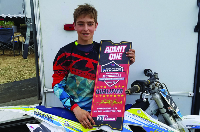 Local racer to compete at AMA  National Motocross Championship