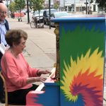 Longtime resident compelled to play Charlotte's colorful pianos