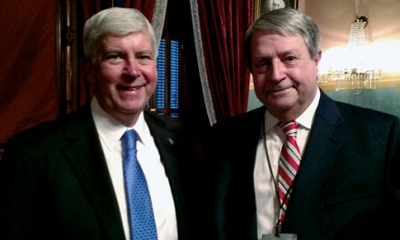 Mayor Lewis in attendance as Governor  Snyder praises Charlotte in State of the State
