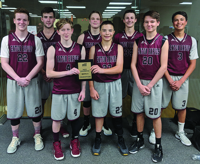The ER 'Hounds 9th grade boys repeat as AYBT May Madness State Champions