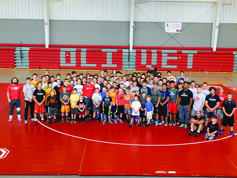 Olivet College camp offers tournaments and clinics for young wrestlers