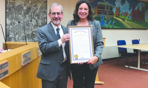 Guetschow honored for  40 years of service