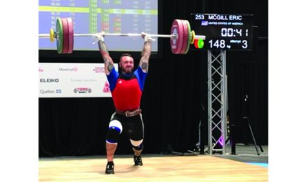 Charlotte's McGill competes in Olympic weightlifting