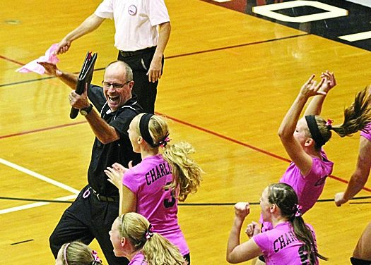 Charlotte volleyball team rides wave of emotion past Mason