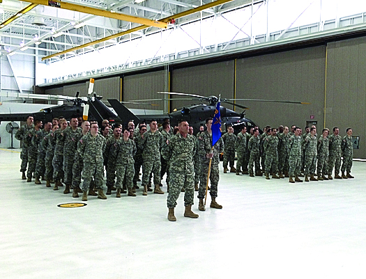 Family and friends gather show support for local soldiers deploying to Kuwait