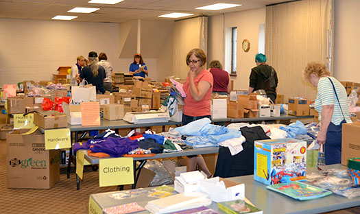 First Baptist Church shares thousands in merchandise with local non-profits