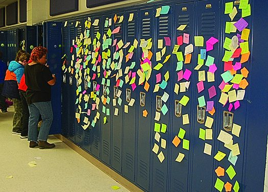 Positive Post-It Day lifts spirits at Charlotte Upper Elementary
