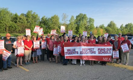 Teachers unite in red for students