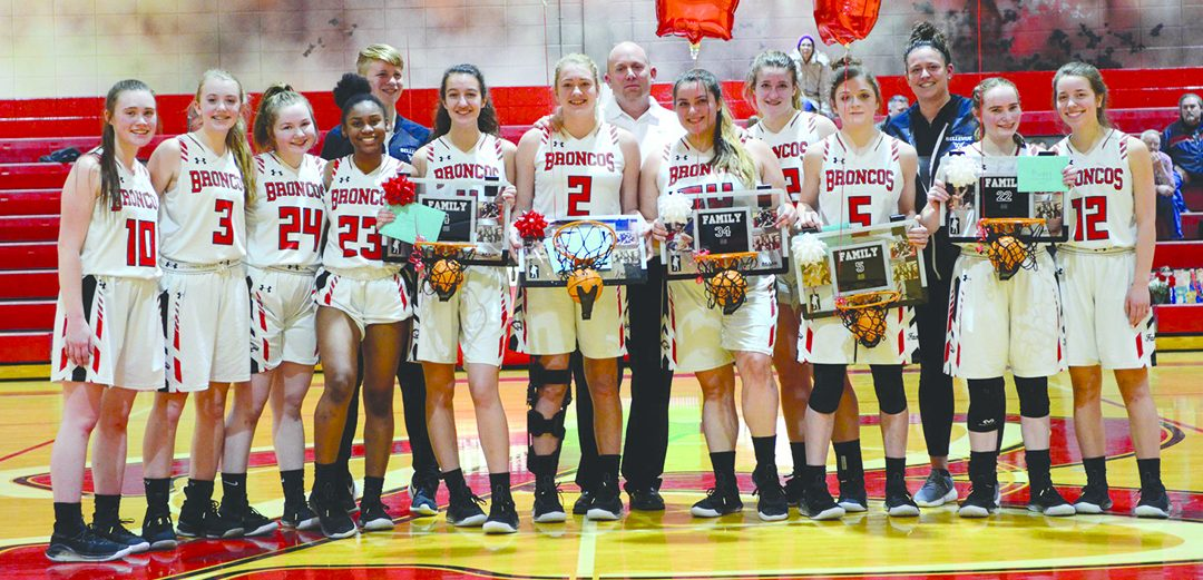 Bellevue girls celebrate 'senior night'
