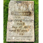 ER man unearths old gravestone in his backyard