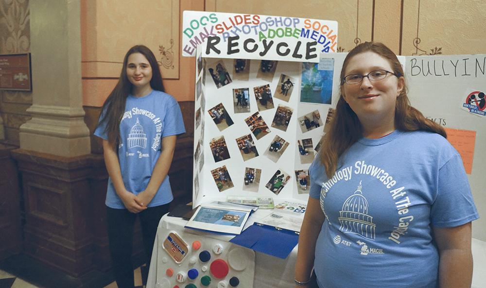 CHS students learning job skills via recycling