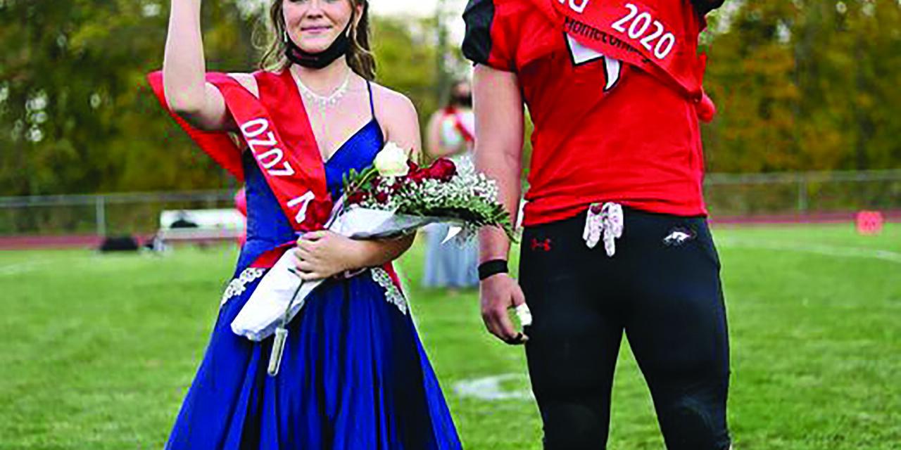 Bellevue High School Homecoming Queen and King