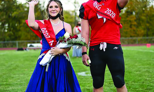 Bellevue High School Homecoming Queen and King
