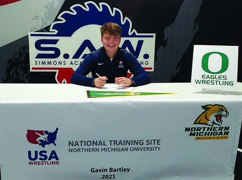 Gavin Bartley signs with the USA National Training Site/Northern Michigan University
