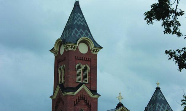 Lightning Strikes Bell Tower of Congregational Church